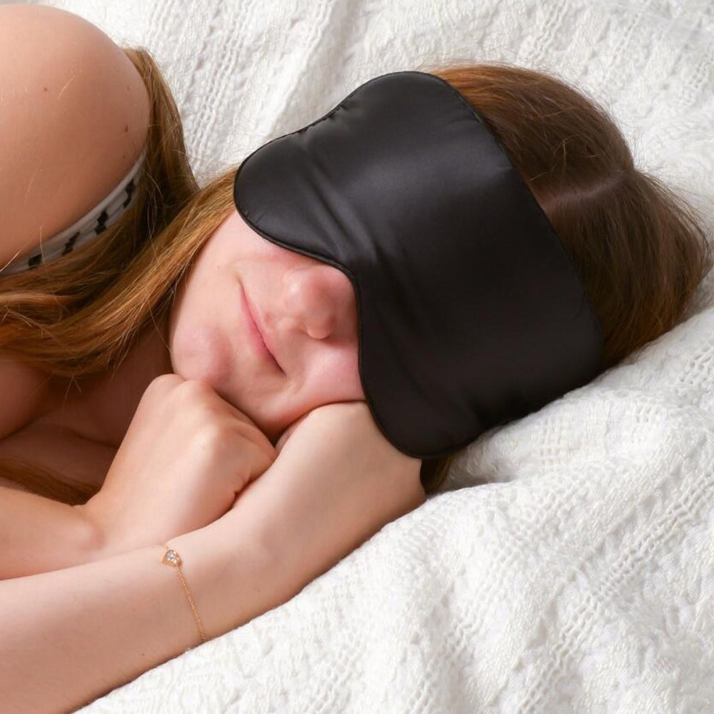Black Silk Eye Sleep Mask
