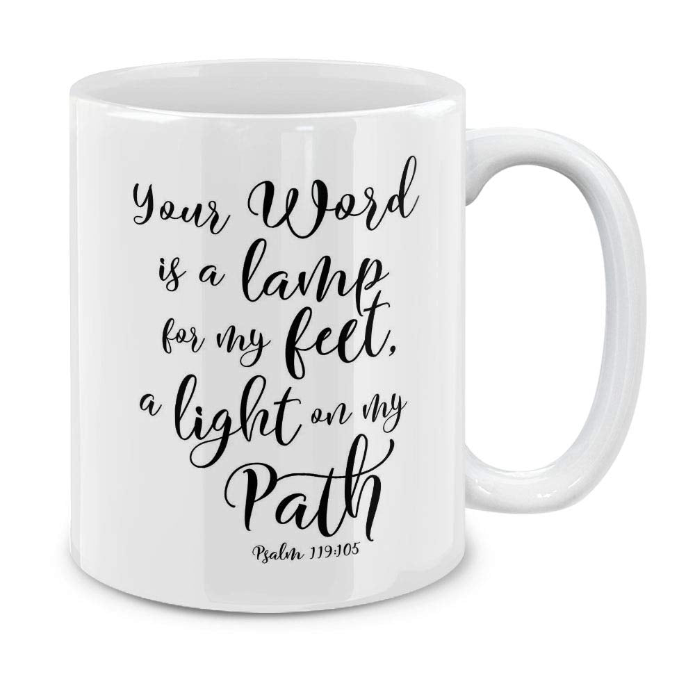 Psalm 119:105 Coffee Mug 11 OZ - SimplyInspireNow