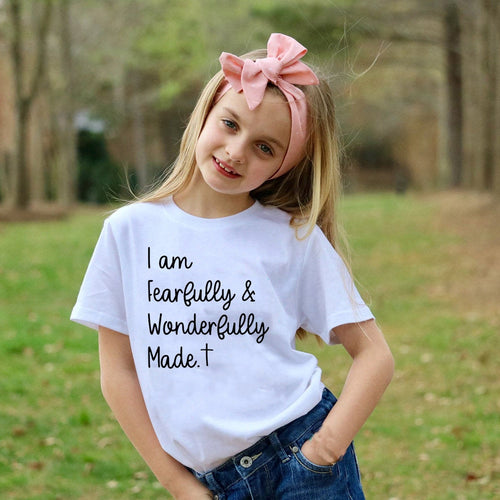 Fearfully and Wonderfully Made Kids Shirt - SimplyInspireNow
