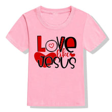 Load image into Gallery viewer, Love Like Jesus Kids T-shirts - SimplyInspireNow