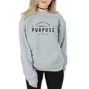 Created with A Purpose Women Sweatshirt - SimplyInspireNow