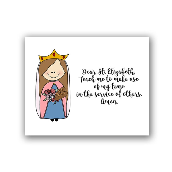 Catholic Quote ST Elizabeth Hungary Canvas Poster - SimplyInspireNow
