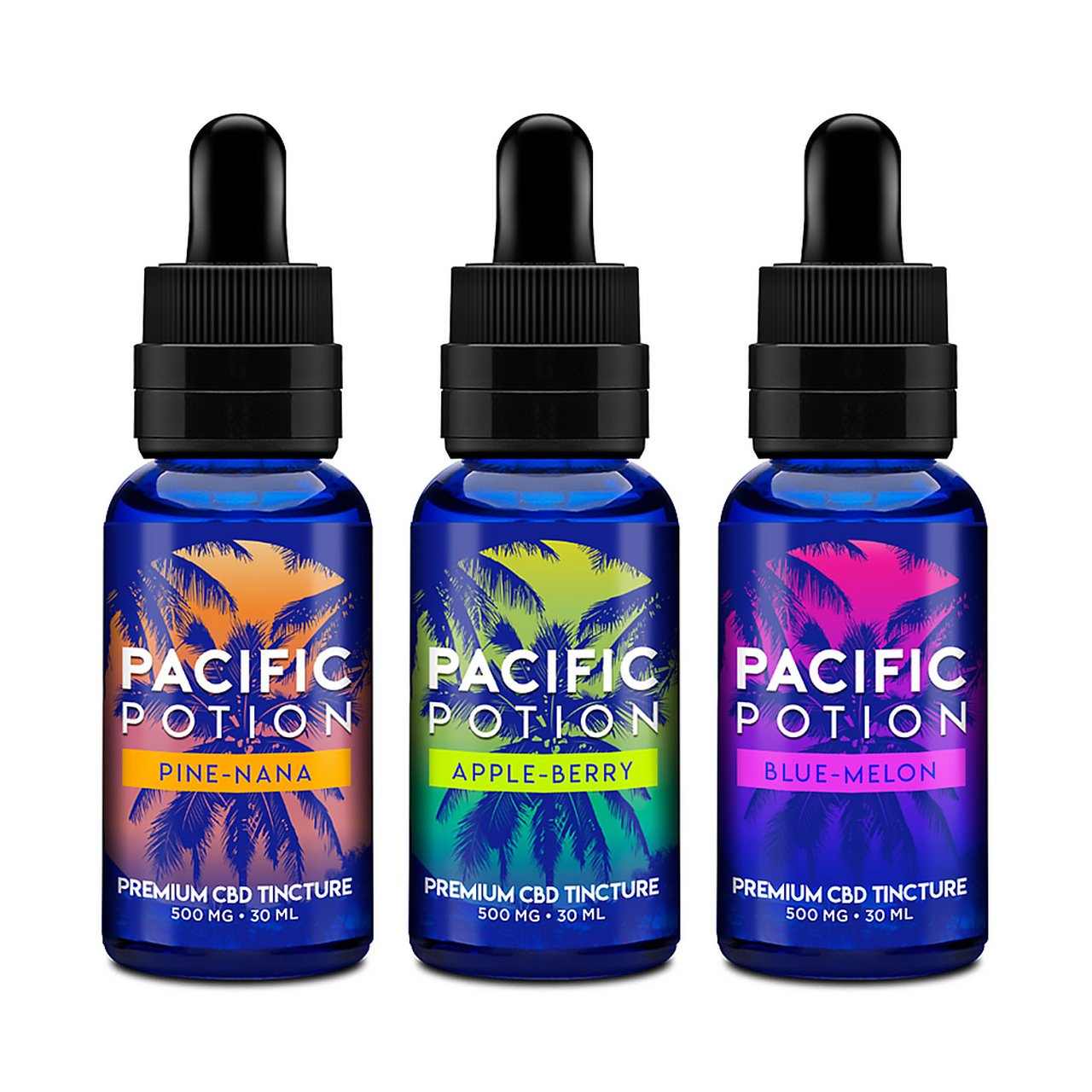 Pacific Potion 250mg CBD Tincture 30mL - Blue-Melon