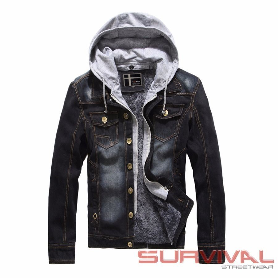 Denim Fleece Lined Jacket