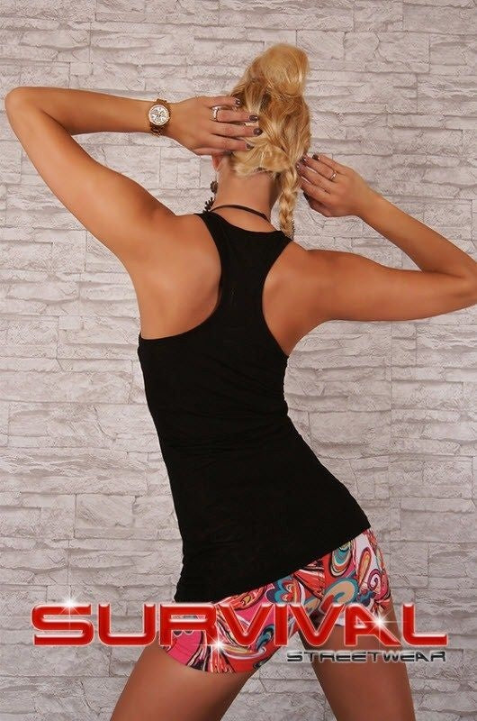 Printed Racer Back Singlet Tank Top