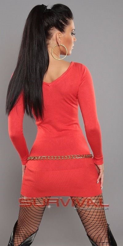 Long Sleeve V Neck Jumper