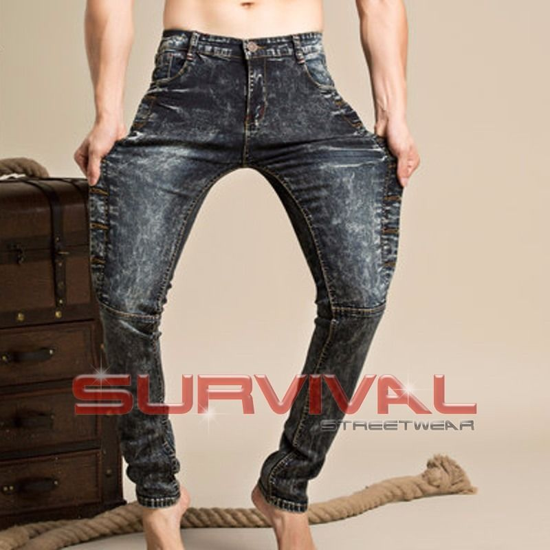 Black Washed Slim Fit Stretch Jeans