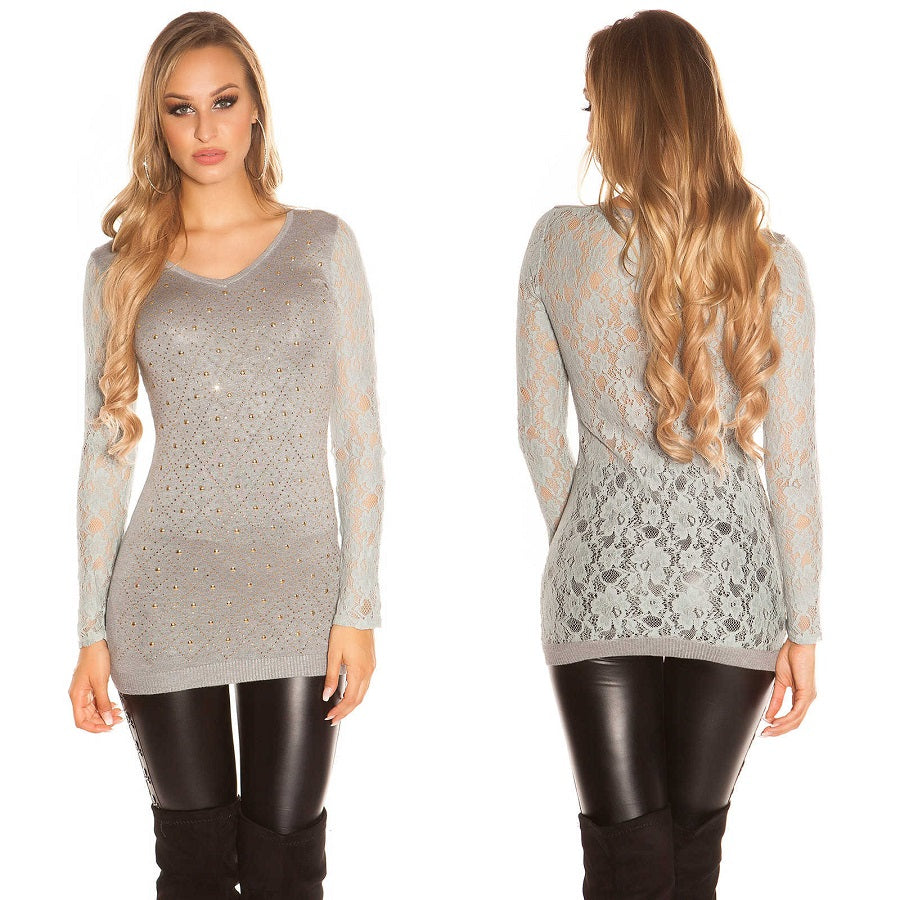 Long Sleeve Lace Jumper