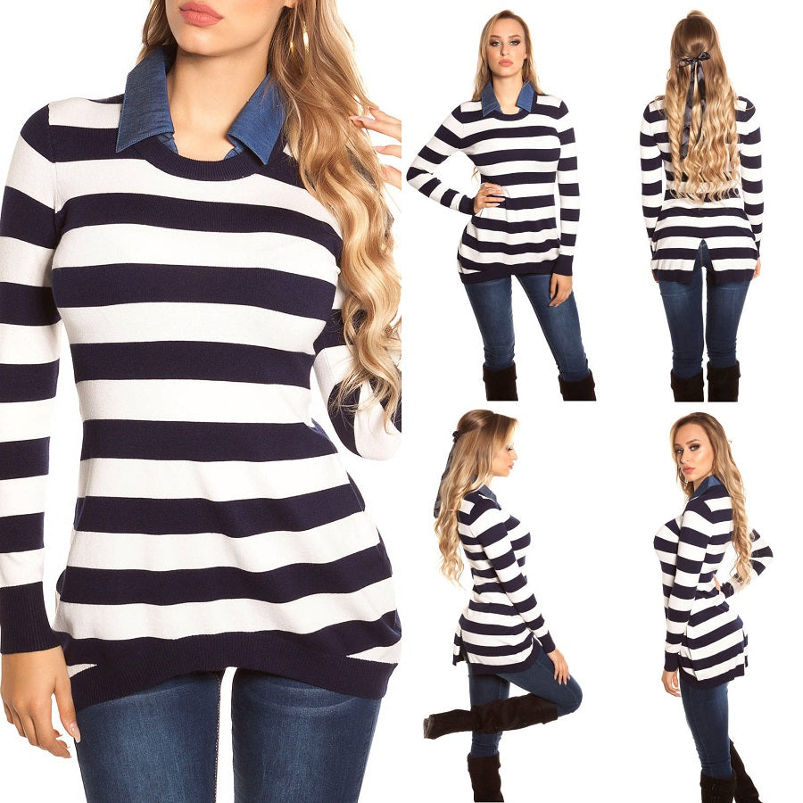 Long Sleeve Collared Jumper