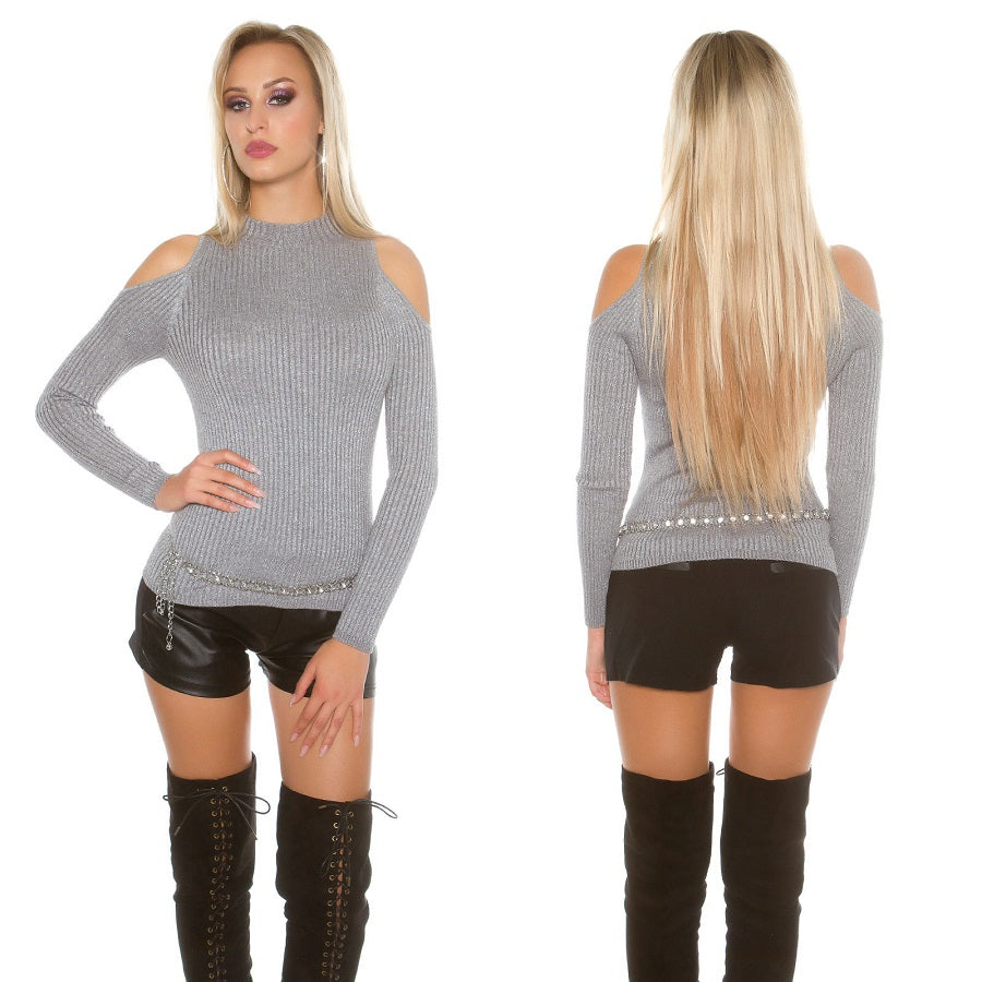 Long Sleeve Open Shoulder Jumper