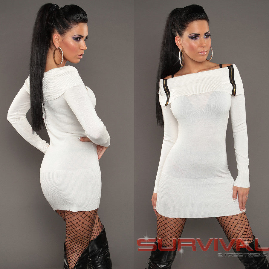 Long Sleeve Off Shoulder Jumper Dress