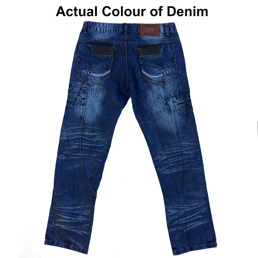 Kosmo Lupo Jeans KM012 Back Blue