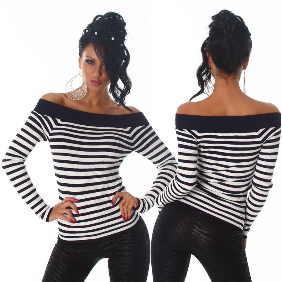 Long Sleeve Off Shoulder Jumper