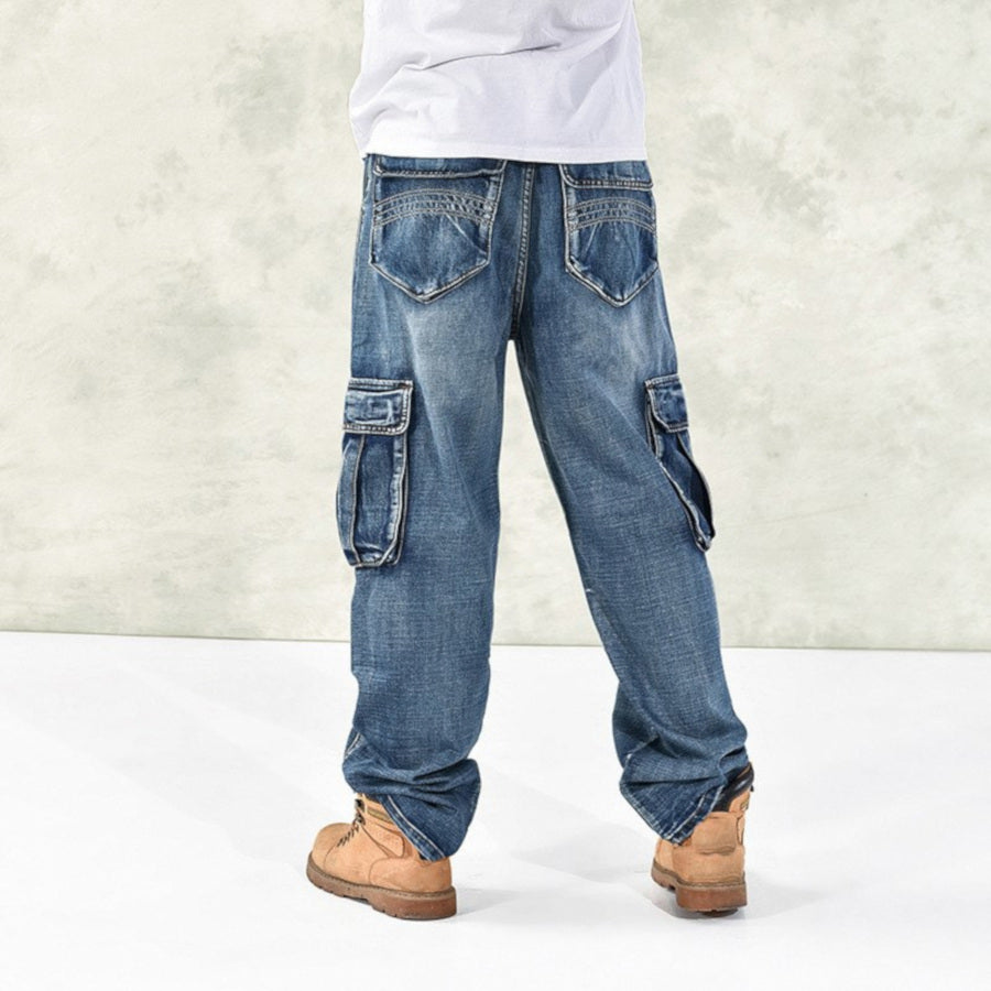 Cargo Blue Washed Jeans Size 36-38