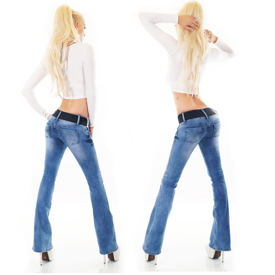 Red Seventy - Blue Boot Cut Lightweight Jeans