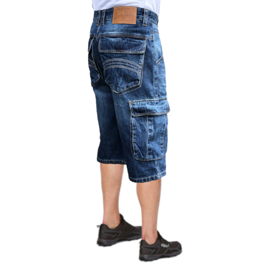 Cargo Denim Walk Shorts