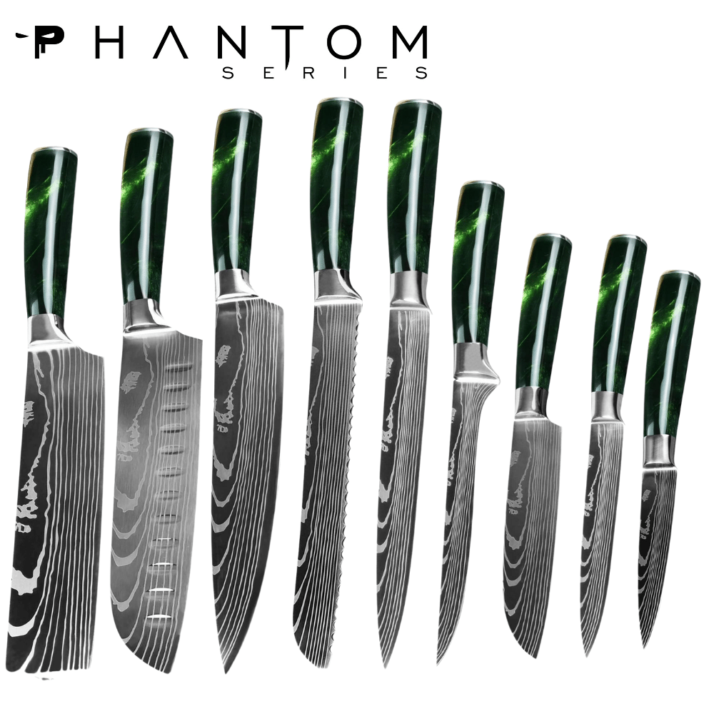 Phantom series - Emerald 9 piece Chefs bundle