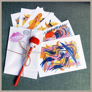 """Ocean Grove Visions""  Postcard Pack with Gellie Pen"