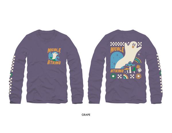 Lonely Surfer Ghost Comfort Colors Long Sleeve