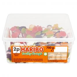 Haribo Fruity Frogs 2p Tub 750g