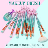 Big Mermaid Makeup Brushes Set