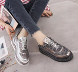 Footwear Diamond Flats Casual Shoes Women Slip Sneakers