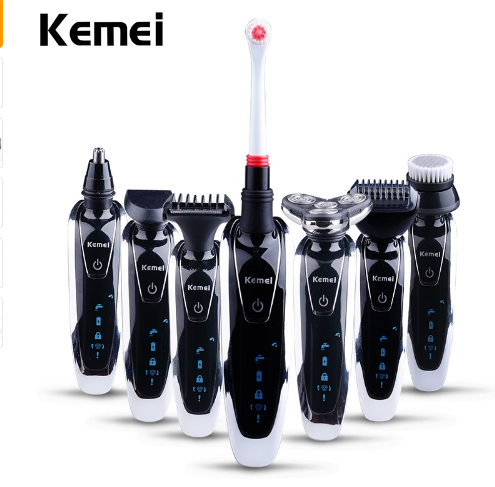 Kemei 7 in 1 Men's 3D Electric Shaver