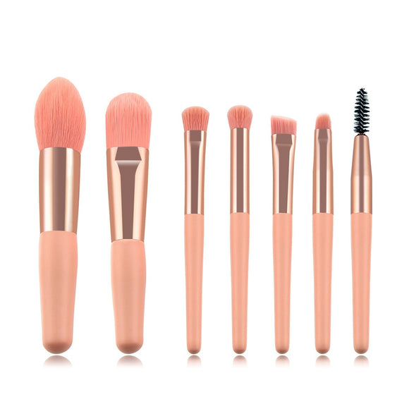 7/8pcs Little Cute Pink Makeup Brushes