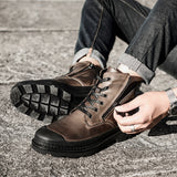 Genuine leather Autumn Men Boots