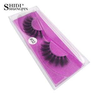 1 pair 3d mink lashes natural false eyelashes