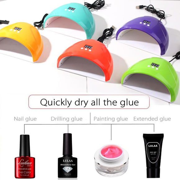 New 7color 36W Nail Dryer Nail Polish LED UV Lamp Nail Lamp UV LED Gel Smart Quick Dry Induction Nail Machine USB Charging