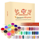 2020 new 120 fashion color 12ml Venalisa gel polish vernish color gel polish for nail art design whole set nail gel enamel kit