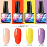 Mtssii 6 pcs Color Nail Gel Polish Set UV Vernis Semi Permanent 2/4PCS Soak Off Gel Varnish Nail Art Kit Manicure Gel Lak Polish