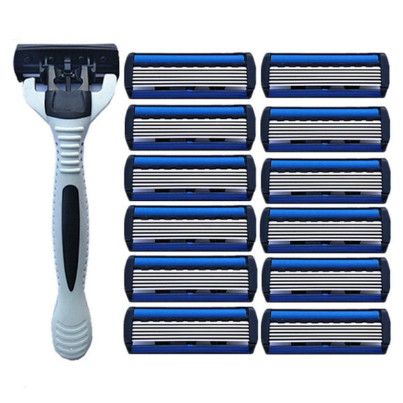 1pcs Beard Shaver Rack +12 pcs 6-Layer
