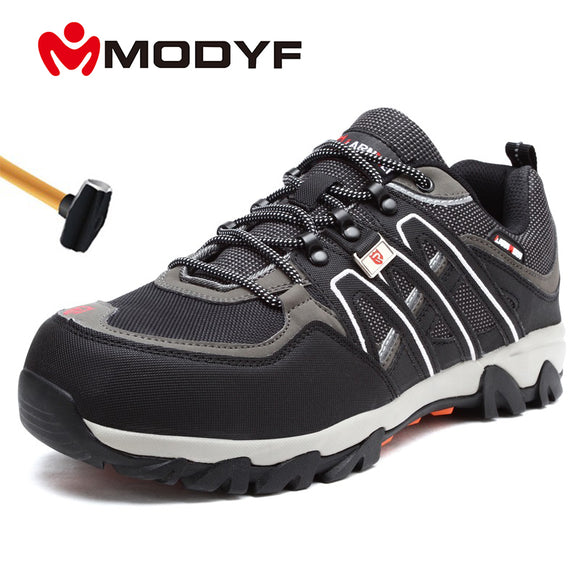 MODYF Men's Steel Toe Work Safety Shoes