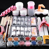 COSCELIA Full Acrylic Nail Kit With 120ML Acrylic Liquid Nail Art Decorations All For Manicure Nail Kit Tools For Manicure