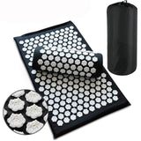 Back Massager Mat Lotus Acupuncture Set Relieve Stress Back Pain Acupressure Mat Pillow Massage Yoga Mat For Body Relaxation