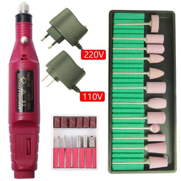20000RPM Electric Nail Drill Machine Manicure Set Pedicure Nail Drill File Gel Remover Polishing Tools Strong Nail Equipment Kit