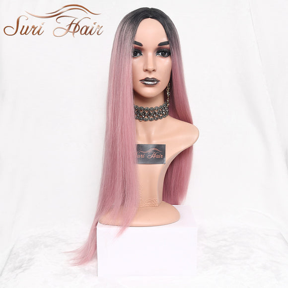 Suri Hair Long Straight Ombre Pink