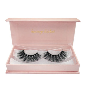 1 pair mink eyelashes fluffy