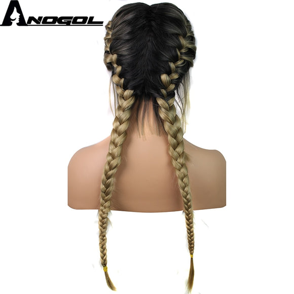Anogol Pre Plucked Long Double Braids