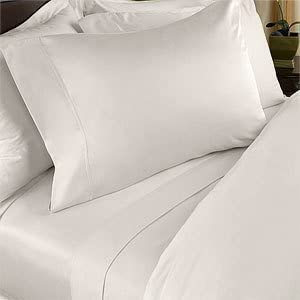 7 pc Cream (Ivory) plain - solid King Size Bed Sheet-Duvet Cover Sheet with TWO Shams and TWO pillow cases set. 1500 Thread Count 100% Long Staple Natural Combed Giza Cotton