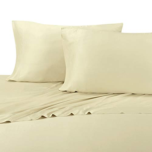 Royal Tradition Silky and Soft Bamboo Pillowcases, 100% Viscose from Bamboo, Hypo Allergenic, Taupe, Pair of Standard Pillowcases