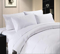Tula Linen 700 Thread Count 100% Egyptian Cotton 2pc Set of Pillow Cases, Silky Soft & Durable (White, standard size)
