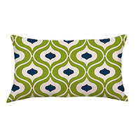 Digood Decorative Pillow Cases, Oblong Rectangle Geometric Lines Decorative Throw Pillow Case Cotton Linen Cushion Cover for Couch Sofa Bed,12 x 20 Inches (C)