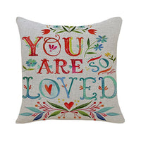 PSDWETS 2 Pack Be Mine Heart Valentine's Day Home Decor Cotton Linen Throw Pillow Case Cushion Cover 18 X 18