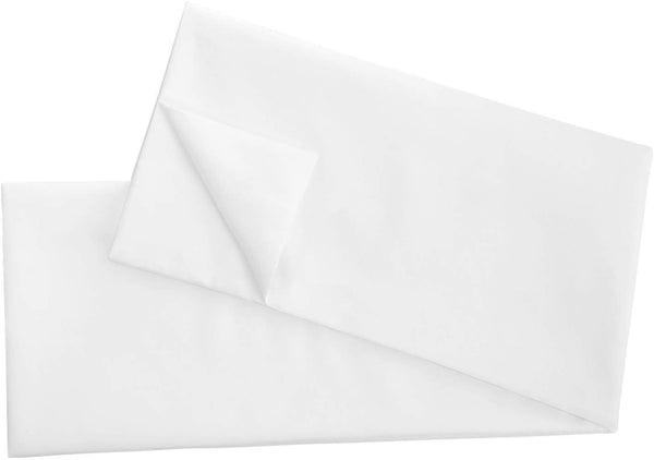 Mayfair Linen Body Pillow Cover, Bright White 20 x 60 Body Pillowcase,100% Egyptian Cotton 800 Thread Count (Includes one Body Pillow Case)