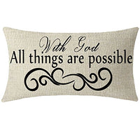 NIDITW Set of 2 Nice Sister Gift Blessed Family Words Waist Lumbar Red Cotton Linen Throw Pillow case Cushion Cover Sofa Home Decorative Rectangle Oblong 12x20 Inches