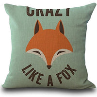 XEDUO 45cm45cm Fox Print Sofa Bed Home Decoration Pillow Case Cushion Cover (A)