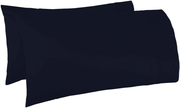 500 Thread Count 100% Egyptian Cotton Pillow Cases,Navy Blue Standard Pillowcase Set of 2, Long-Staple Combed Pure Natural 100% Cotton Pillows for Sleeping,Soft & Silky Sateen Weave Bed Pillow Cover.